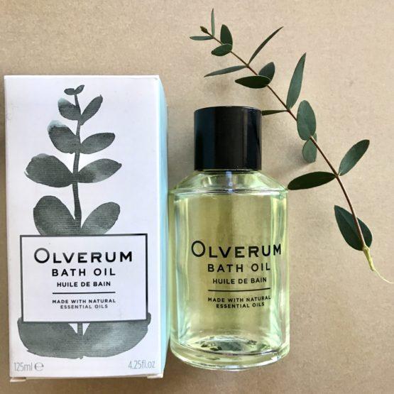 Oh wow! Olverum bath oil!