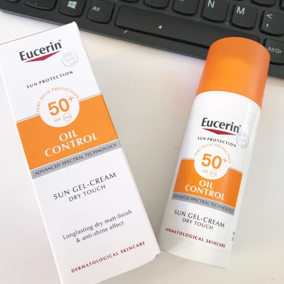 Love your skin with Eucerin oil control SPF 50!