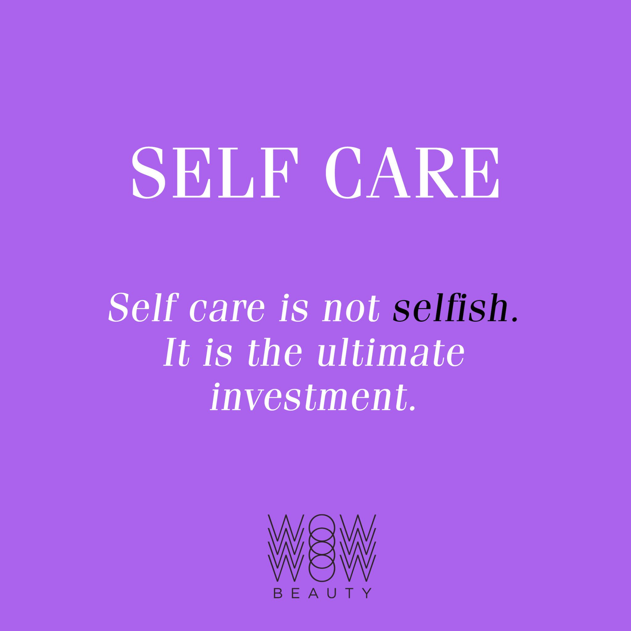 self care is not selfish without wellbeing coach bit