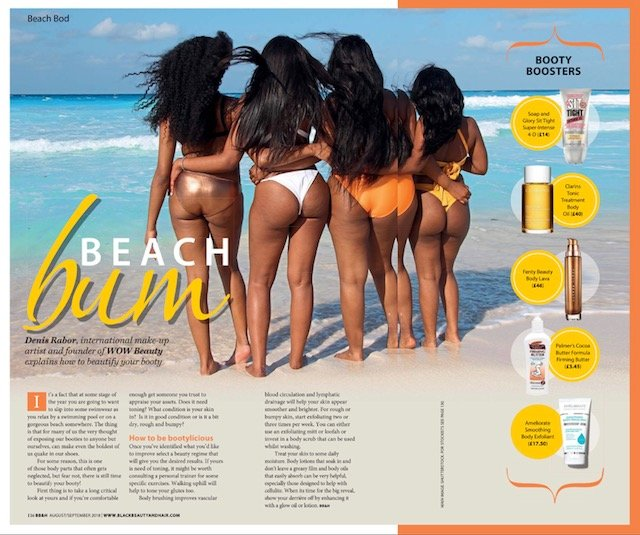 Beach Bum! Denise Rabor's Feature in Black Hair and Beauty