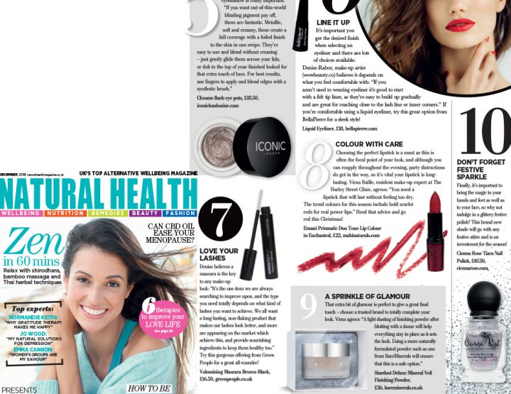 Liner & Lash tips from Denise Rabor in Natural Health Magazine!