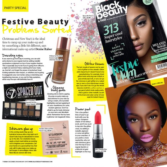 Festive Beauty Problems Solved by our founder Denise Rabor!
