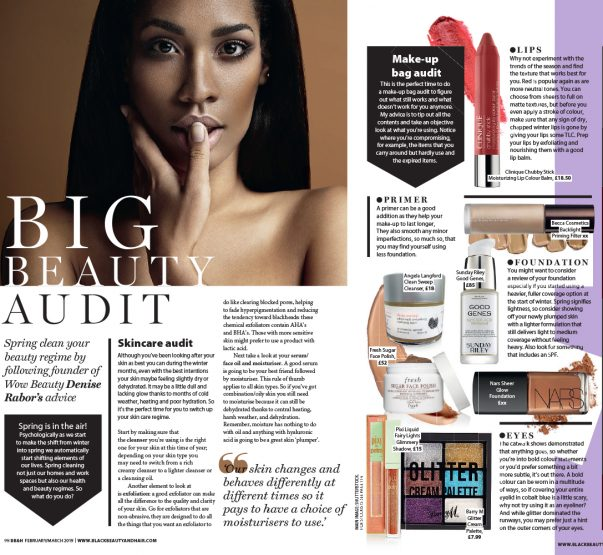 Spring Clean your beauty regime! Denise's feature in Black Beauty and Hair Magazine