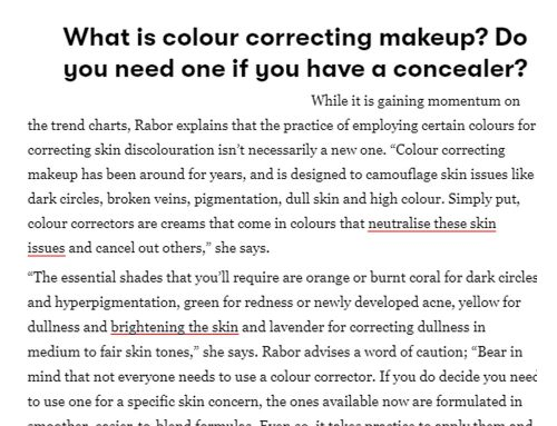 Here's Denise's feature in Vogue India about Colour Correcting!