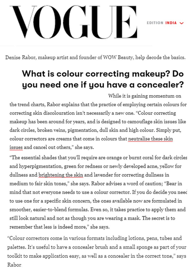 vogue colour correcting