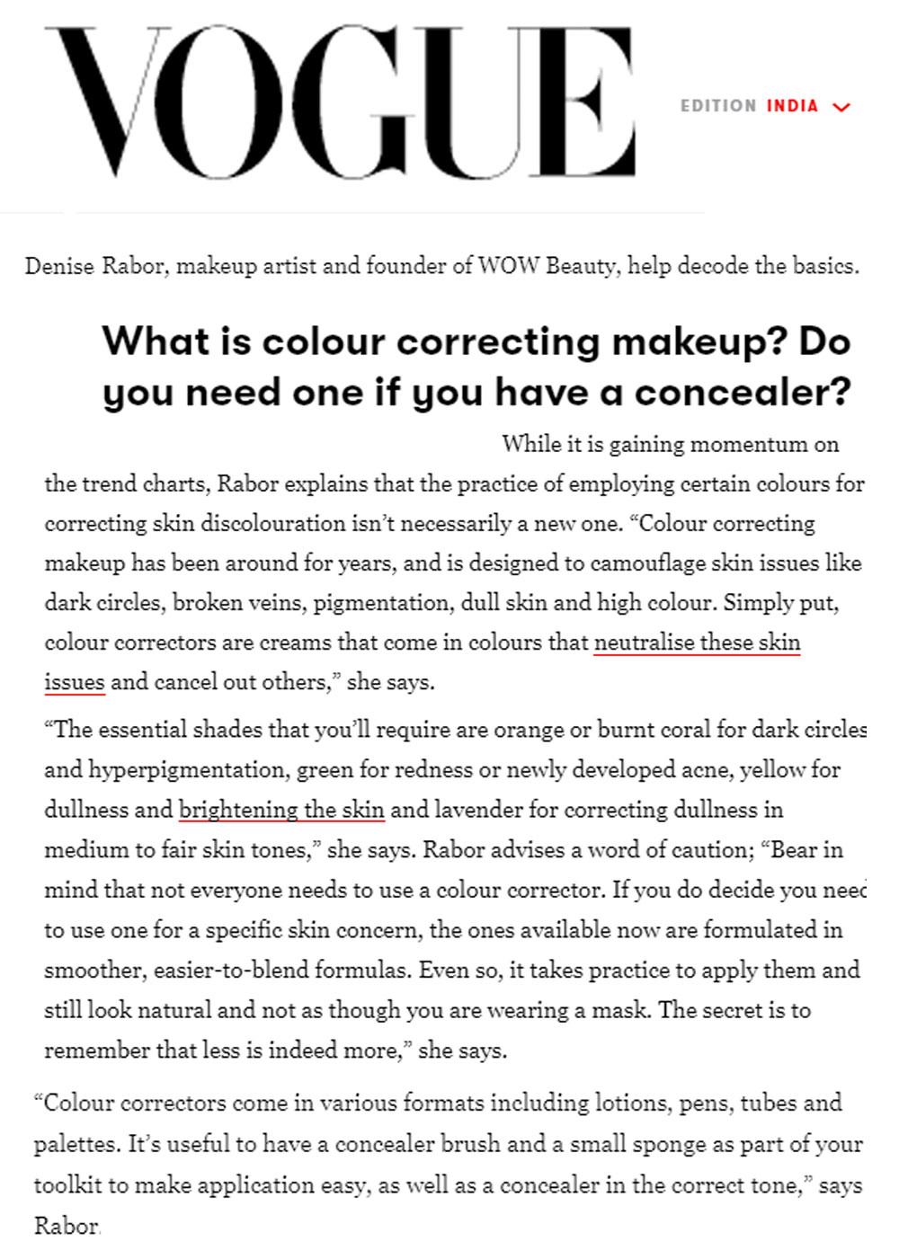 vogue colour correcting