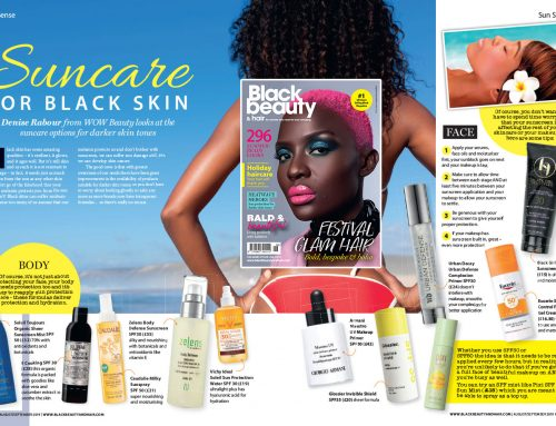 Here's Denise's 'Suncare for Black Skin' feature in Black Beauty and Hair