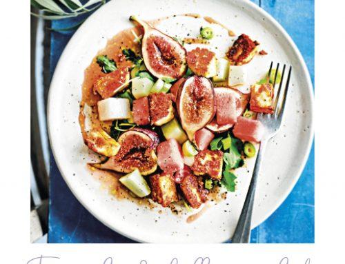 Love this Fig, melon & halloumi salad