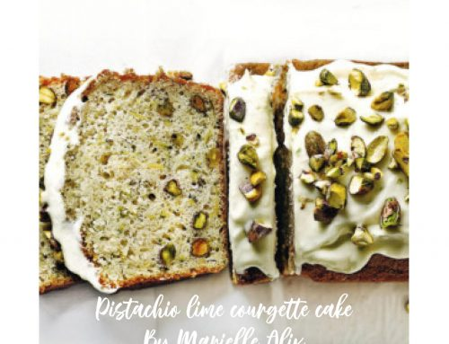Love this Pistachio lime courgette cake from Marielle Alix!